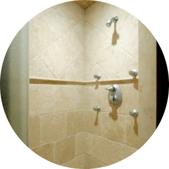 Steam Shower in Luxury Bathroom