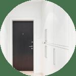 Dark interior door in home remodel in Houston