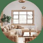 Earth Tones in Living Room Remodel in Houston