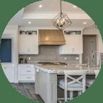 Quartz counter tops in kitchen remodel in Houston