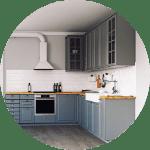 Gray cabinets in Houston, Texas custom luxury kitchen