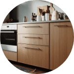 Custom matte kitchen cabinets