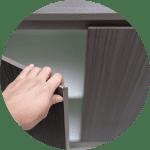 Hardware-free kitchen cabinets